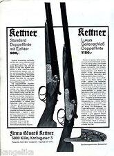 Eduard Kettner-Standard Doppelflinte--Luxus Seitenschloß Dopp--Werbung von 1969-