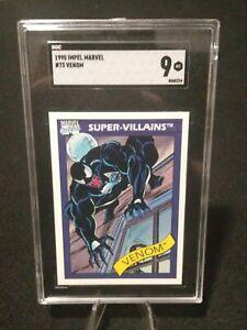 1990 Marvel Universe #73 Venom SGC 9 MT Fast Safe Shipping! Small Crack*