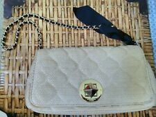 Pre-owned Kate Spade Woven Straw Shoulder Bag Clutch Chain Strap Purse
