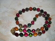"""NEW Faceted Tourmaline Multi-Color Gemstone Necklace 18"""""""