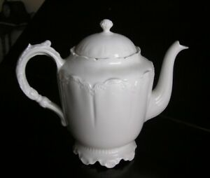 Antique Haviland Limoges basket weave teapot antique Limoges  antique Haviland mark indicates late 1800s