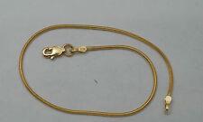 10K gold round snake bracelet