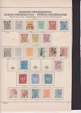 Austria-parte raccolta Bosnia-Erzegovina su carta