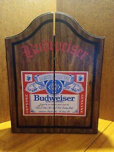 Budweiser Beer Wooden Case/ Darts Set Vintage  USA Made