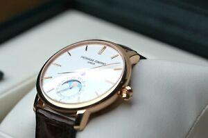 Frederique Constant Slimline Moonphase Watch Rose Gold