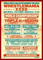 Wrestlemania 32 Triple H Vs Roman Reigns Retro Art Print 8x10 WWF WCW AJ Styles