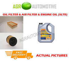 DIESEL OIL AIR FILTER KIT + LL 5W30 OIL FOR PEUGEOT 307 2.0 136 BHP 2003-07