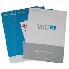 New Nintendo Wii U System Console OEM User Operations Manual Quick Start Guide