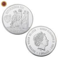 WR Novosibirsk Zoo Meerkats British Virgin Islands Silver Coin Boyfriend Gifts