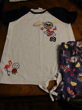Girls Size 10/12 2 pc Pajama Set Top and Shorts