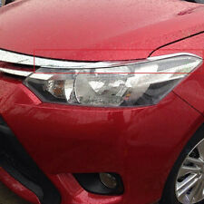For Toyota Vios Yaris Sedan 2013-2015 Front Head Light Lamp Eyebrow Cover Trims