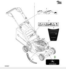 Genuine John Deere R54S SA912 Lawnmower Front Sticker SAU12071