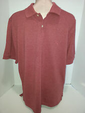 Brooks Brothers Polo Rugby Short Sleeve Shirt Size M Medium Redish Pinkish Italy