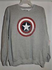 Captain America Marvel Comics Men's Crewneck Sweatshirt Distressed Shield XL NWT
