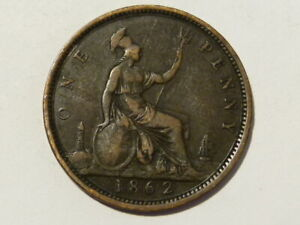 1862 Victoria Penny 1d Collectable Variety Research Grade #K101