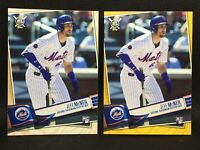 Lot (2) 2019 Jeff McNeil RC Topps Big League Gold Variation And Base Rookie #116