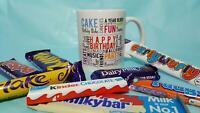 Happy Birthday Ceramic Mug Gift Cadbury Chocolates Novelty