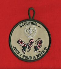 ONE HOUR a WEEK Boy Cub Scout Scouts Patch Uniform World Scouting