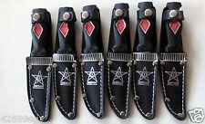 6 Fes Messer Fahrtenmesser Jagdmesser Anglermesser, Sheriff Scheide