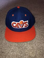 VINTAGE 90s CLEVELAND CAVALIERS SNAPBACK HAT BLUE AND ORANGE