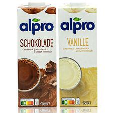 Alpro - 2er Set aus: Soja Drink Schoko und Vanille á 1 Liter Packung