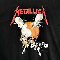 Men's Official METALLICA Damage Inc Tour Print Metal Rock Black Band T-Shirt XL