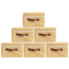 """6Pcs 10×8"""" Collapsible Fabric Cube Storage Bins Home Organizer Boxes Baskets"""