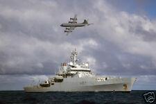 Royal Navy HMS Echo & Australian Plane Search For Flight MH370 12x8 Inch Photo