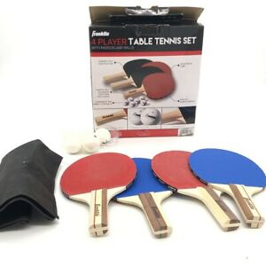 Franklin Sports Table Tennis Paddle Ping Pong Set with Balls Straight Handle