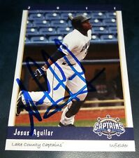Milwaukee Brewers Jesus Aguilar Signed 2011 Lake County Captains Auto Card