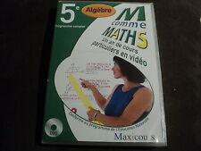 """DVD NEUF """"M COMME MATHS (ALGEBRE) 5E 5EME - UN AN DE COURS PARTICULIERS EN VIDEO"""