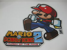 Rare 2006 Mario Vs. Donkey Kong March Of Minis Store Display Cut Out Nintendo DS
