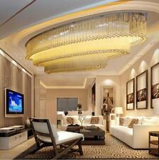 L70/90/10cm oval Led crystal ceiling lamp hotel lobby living room light luxury
