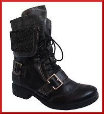 Wadenhohe Stiefel ohne Muster mit mittlerem Absatz (3-5 cm) aus Kunstleder
