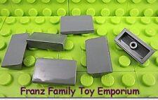 New LEGO Slopes  Lot of 6 Dark Bluish Gray 1x2x2/3 30 Degree Brick Part Pieces