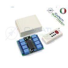 Scheda Ricevente Ricevitore 12V 433 Mhz 8 Relè Canali con Telecomando