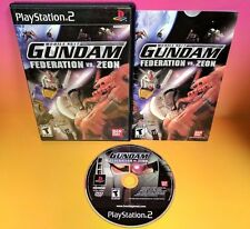 Mobile Suit Gundam Federation vs. Zeon - Playstation 2 PS2 MINT Complete Rare