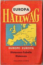 Vintage 1950s Hallwag Europe Distances Conversion Booklet