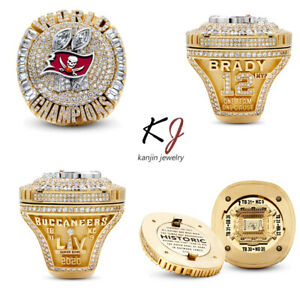 2020 2021 Tampa Bay Buccaneers Super Bowl Champions ALLOY Ring DETACHABLE 8-14Sz
