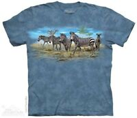 Zebra Gathering T-Shirt by The Mountain. Zoo Animal Sizes S-5XL NEW