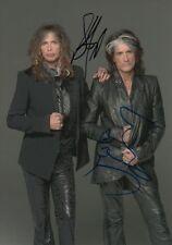 "Aerosmith ""Steven Tyler & Joe Perry"" autógrafos signed 20x30 cm imagen"