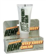 HEMP STAY ERECT CREAM .5 PERSONAL LUBRICANT LUBE ADULT ENHANCER PLEASURE