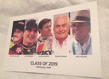 2019 NASCAR HOF Hero Card Post Card Jeff Gordon Penske Allison Roush Kulwiki