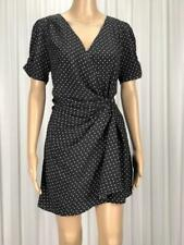 ** LADAKH ** BNWT $99.95 * Sz 14 Black White Heart Print Occasion Dress - (B199)