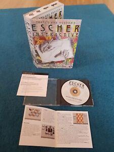 M C ESCHER INTERACTIVE Exploring Art CD-ROM Windows 95 Vintage Computer Software