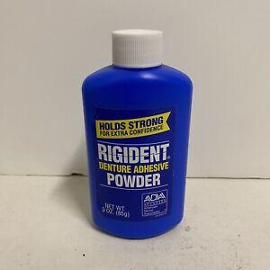 Rigident Denture Adhesive Powder 3 OZ NEW