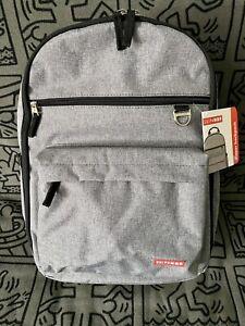 Skip Hop Duo Diaper Bag Backpack Heather Grey