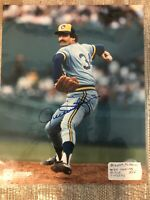 ROLLIE FINGERS MILWAUKEE BREWERS AUTOGRAPHED SIGNED 8X10 PHOTO