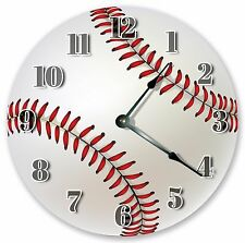 "10.5"" BASEBALL SPORTS CLOCK - Large 10.5"" Wall Clock - Home Décor Clock - 3031"