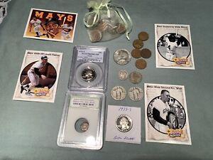 Junk drawer Lot C: Silver, Ancient, 90% coins, Gem Proof, Slab, 99c start, NR